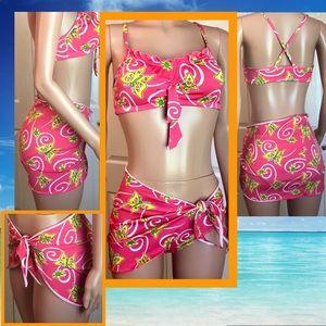 Other - 🔥SALE🔥3 PIECE Pink Butterfly Bikini